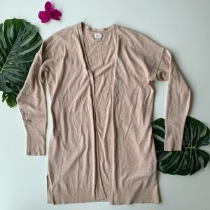 A New Day L Beige Long Sweater